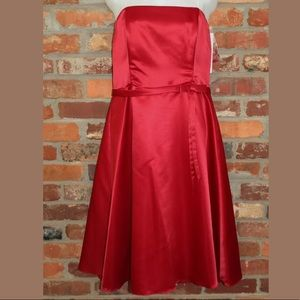 Fiesta Red Strapless Knee Length Prom Dress XL